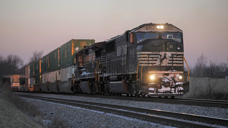 Person survives after being struck by freight train near Chamblee