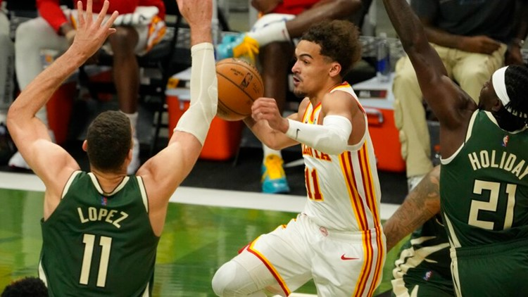Hawks take home win in first game of Eastern Conference Finals against Bucks; Final score 116-113