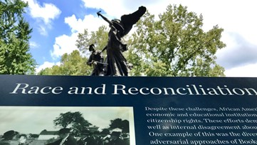 New markers placed with Atlanta's Confederate monuments adding modern info about racism