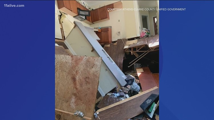 Floor of house near UGA collapses