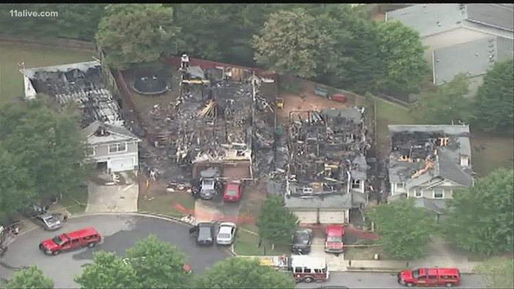 Several homes severely damaged in Cherokee County