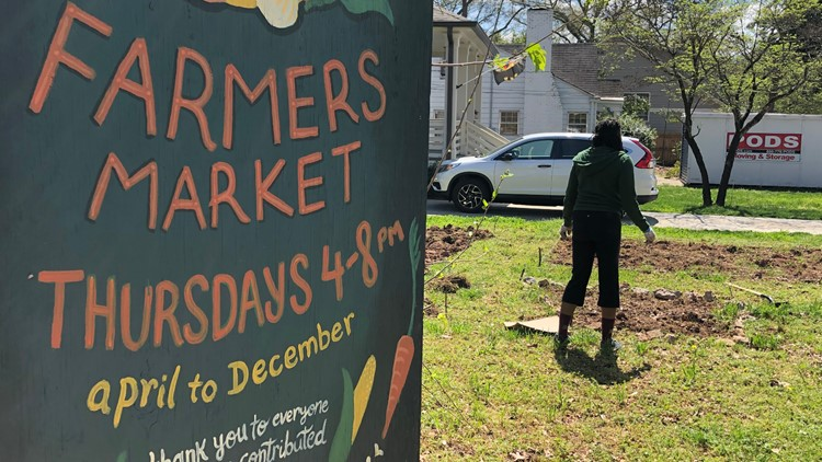 New community garden, A Sip of Paradise is located at the EAV Farmer's Market Lot