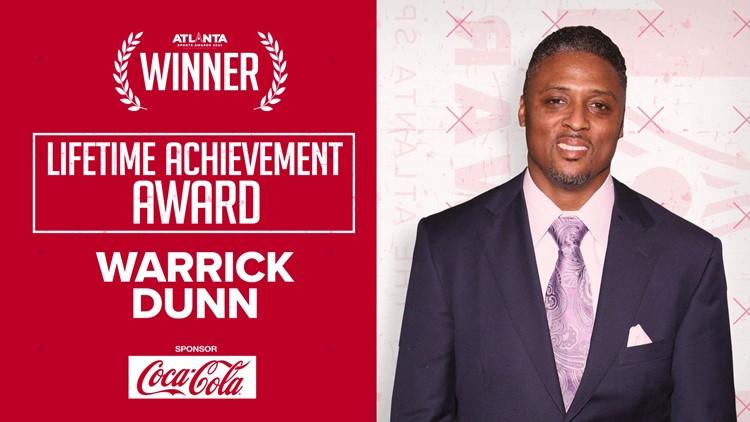 Atlanta Sports Council honor Warrick Dunn with 2021 Lifetime Achievement Award