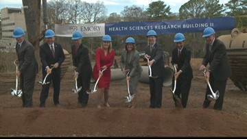 Emory breaks ground on new research building
