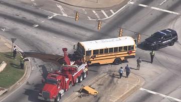 2 DeKalb Co. School District employees taken to hospital after school bus crash