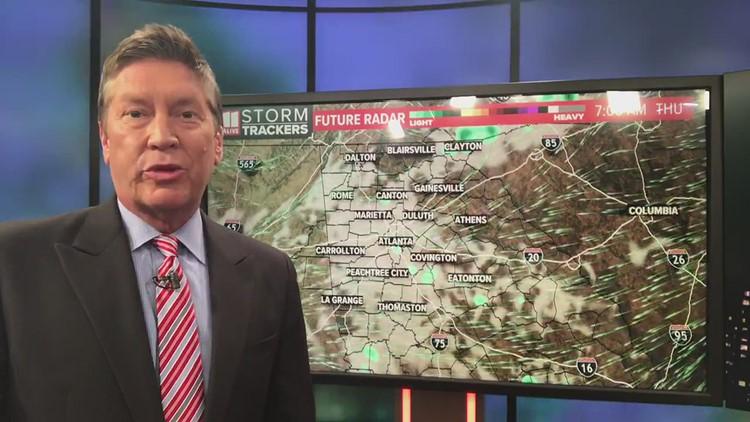 Low rain chance early Thursday
