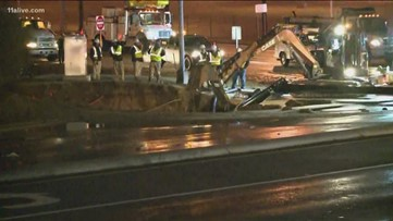 Major Norcross intersection closed due to large sinkhole