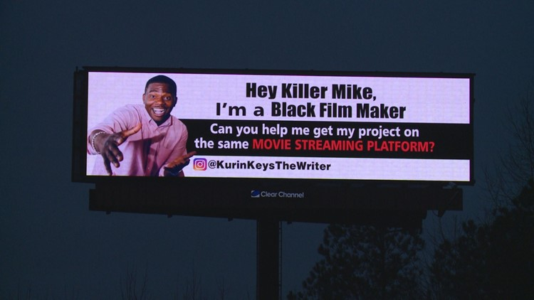 Filmmaker hopes to get rapper, activist Killer Mike's attention with I-85 billboard