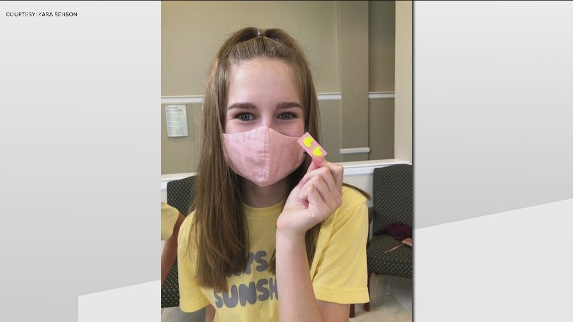 8th grader honors healthcare workers with homemade gift