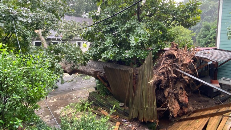 Photos | Heavy rain, strong wind from Fred causes damages in Georgia