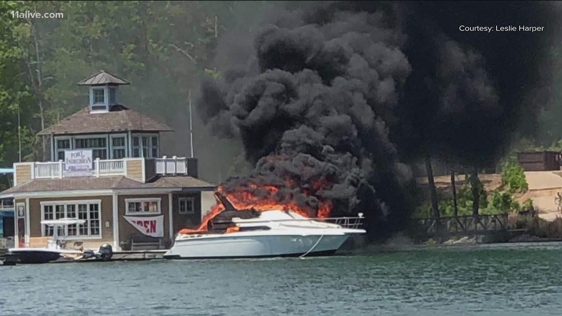 Lake Lanier boat explosion leaves 3 injured