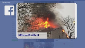 Apartments catch fire in Roswell