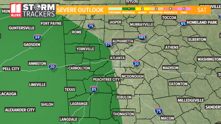 severe outlook - saturday