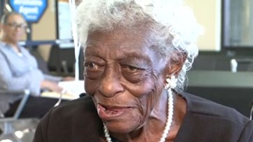 100-year-old takes her first train ride, fulfilling lifelong dream