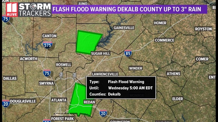 dekalb flash flood warning