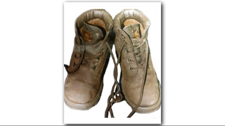 Shoes of boy found dead in DeKalb cemetery