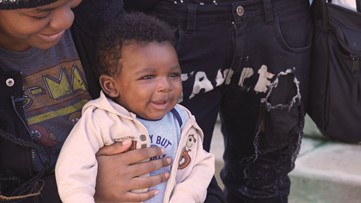 They were homeless, then had a baby. Then Grandma tracked them down.