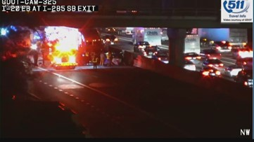 Car destroyed in wreck on I-20 WB, another wreck on I-20 EB