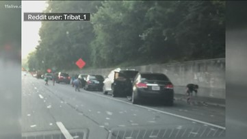 Man who watched money rain on I-285 explains why he turned in $2,000