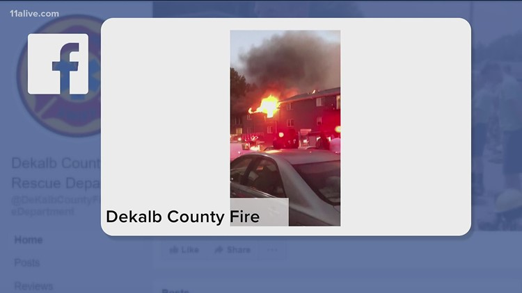 Major fire at East Atlanta apartment building in DeKalb County