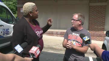 Second confrontation: Rep. Erica Thomas, Eric Sparkes meet again unexpectedly during press conference