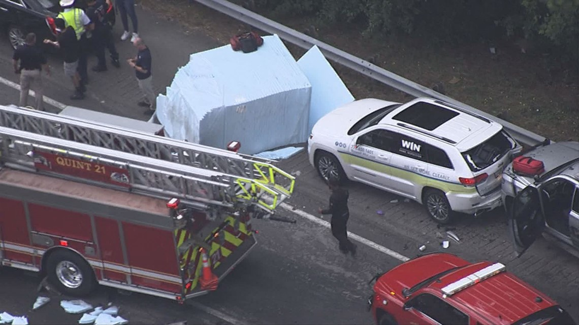 I-285 EB reopens after after multi-vehicle crash causes two