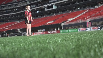 10-year-old captivates crowd singing national anthem at Atlanta United game