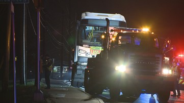 Police: Driver leaves scene of crash after hitting MARTA bus, another car