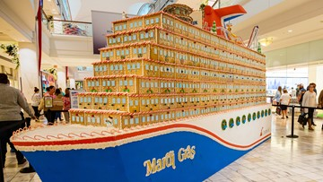 There's a 1,500-pound, 23-foot-long gingerbread ship at Lenox Mall