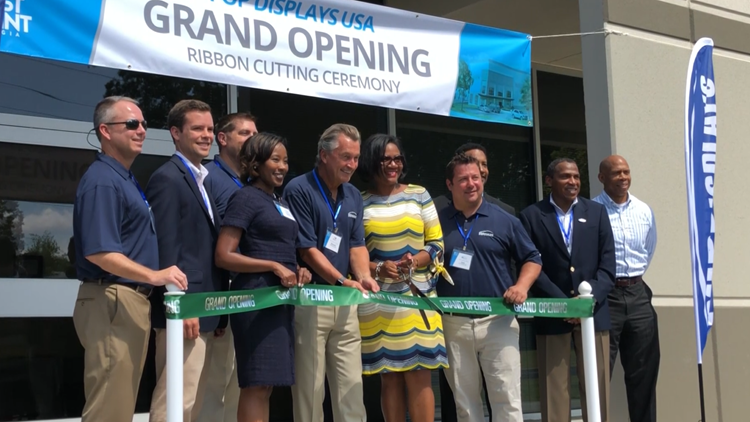 City Officials at POP Displays Ribbon Cutting in East Point