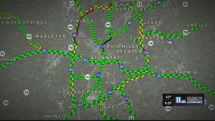 Alternate Routes To Interstate 85 For Motorists In And Around Metro