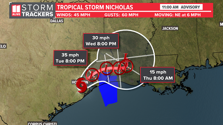 Tropical Storm Nicholas to cause flooding along Gulf after making landfall as hurricane   What impacts it could have in Georgia