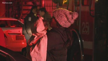 Fire forces 38 people out of apartment in Atlanta