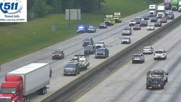 I-85 NB reopens all lanes after wreck causes major backup