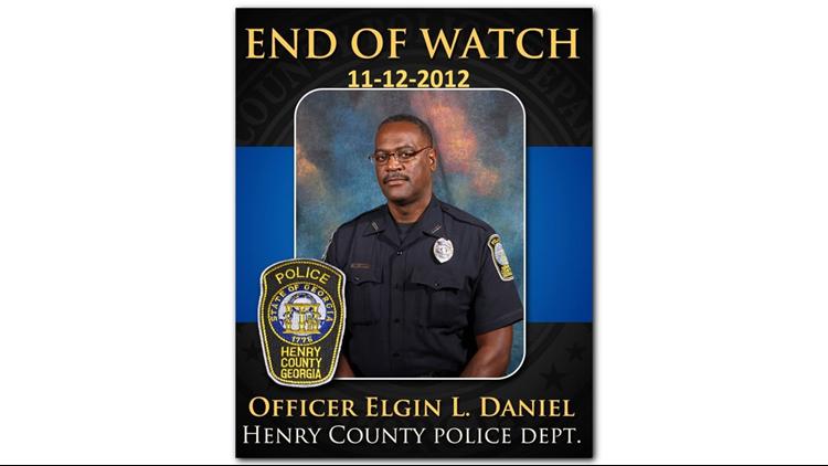 Henry County Police honors memory of Officer Elgin L  Daniel