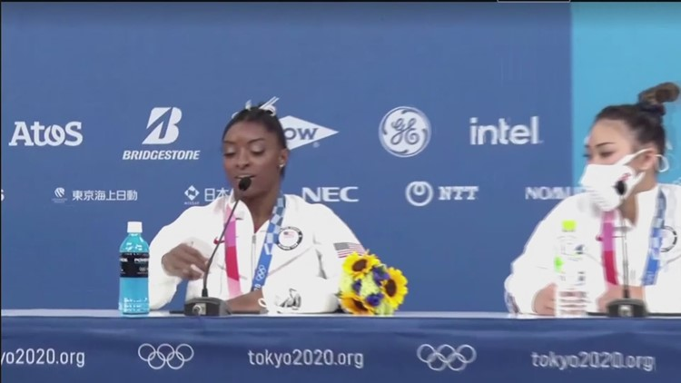 Simone Biles speaks about mental health, vault and gymnastics team competition at Olympics