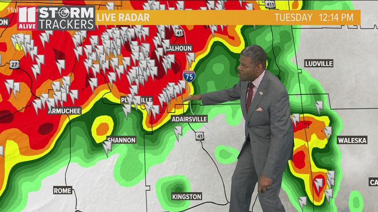 Severe weather threat Tuesday