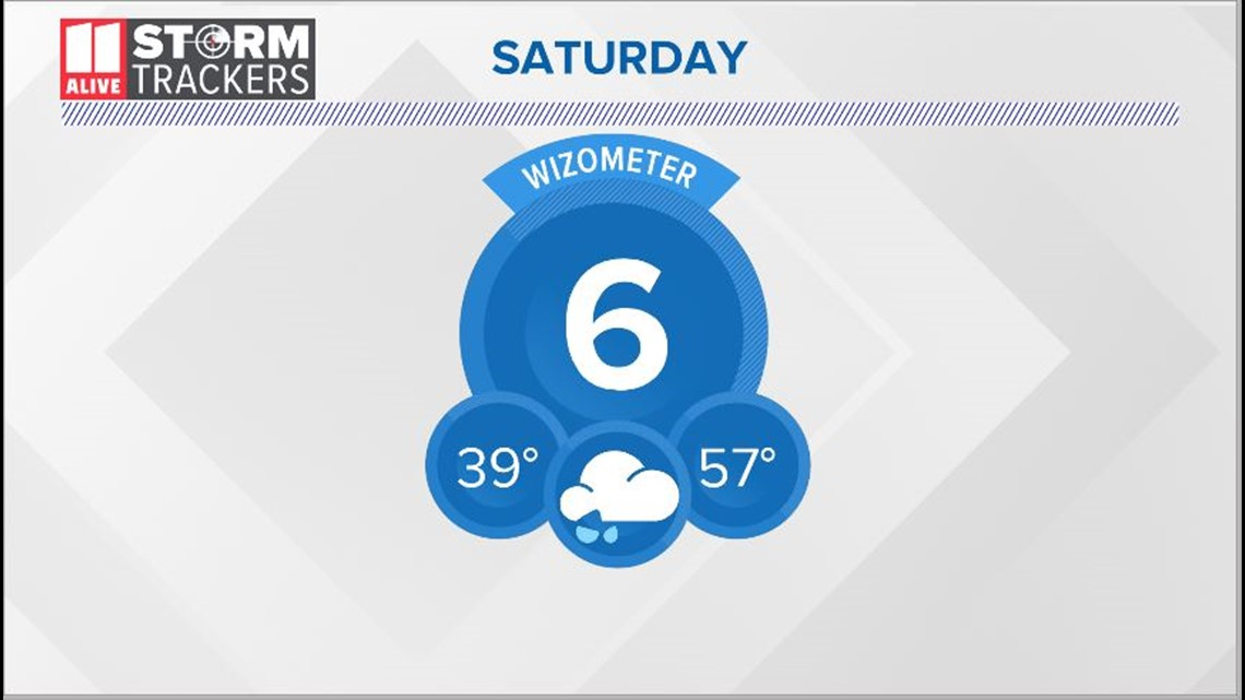Rain moves in Saturday