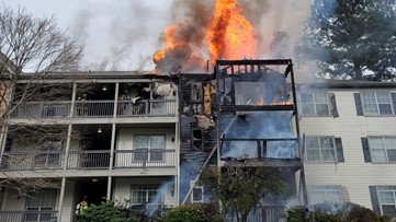 Crews respond to fire at Duluth apartment building; More than a dozen units damaged
