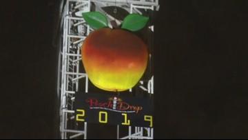 Peach Drop celebration in Atlanta