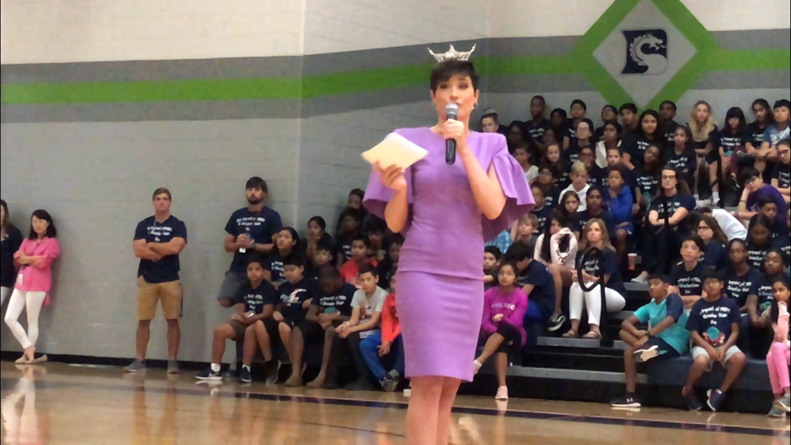 Miss Georgia Victoria Hill brings opera and optimism to Forsyth County students