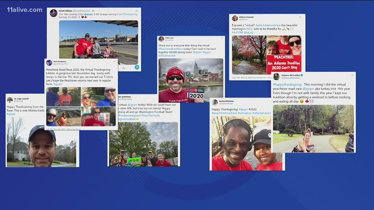 AJC Peachtree Road Race held virtually on Thanksgiving Day