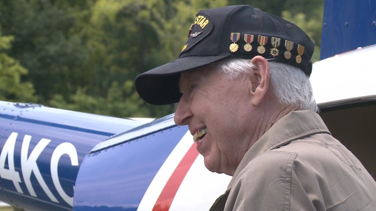 Veteran celebrates his 90th birthday with helicopter ride