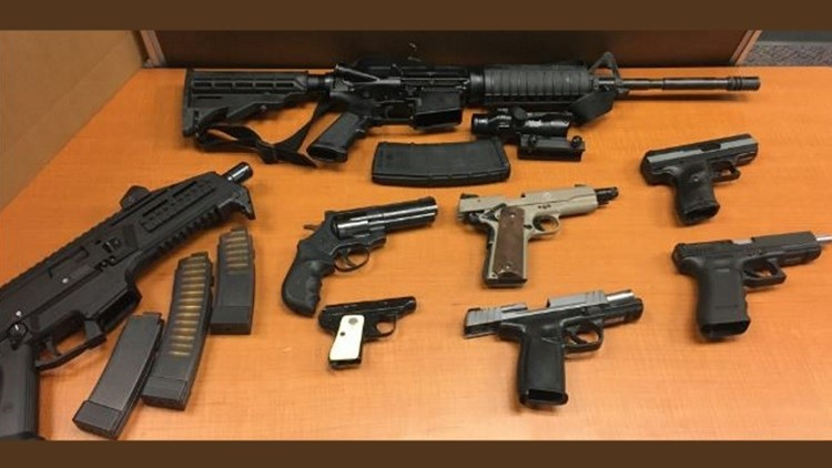 Guns seized in massive Hall County drug bust