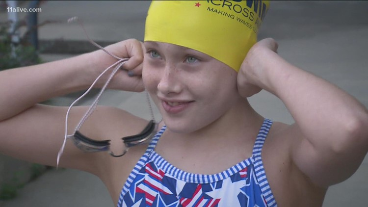 Mom's swimming tour honoring teen daughter who died of cancer comes back to Atlanta
