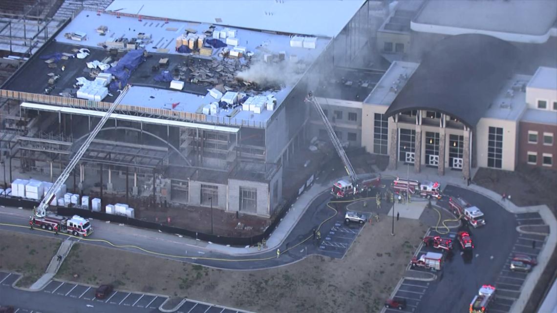 Walton High School Construction Site Catches Fire