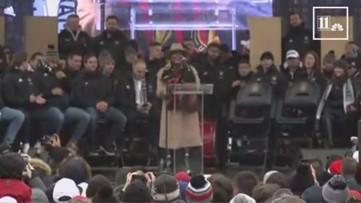 Atlanta Mayor Keisha Lance Bottoms launches Atlanta United chant at victory party