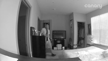 Burglars startled when resident calls from indoor home security camera