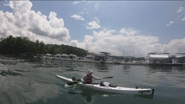 Man kayaks 400 miles along Lake Lanier shoreline