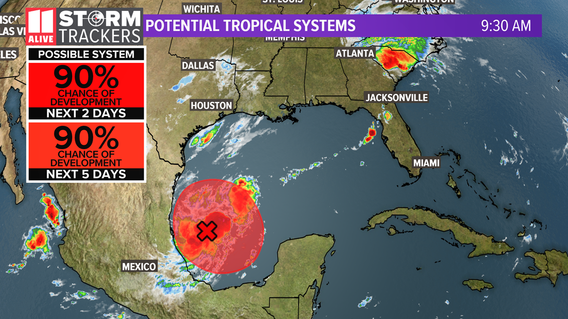 Another potential tropical system in the southwestern Gulf of Mexico